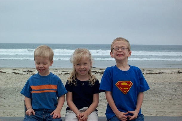 kids at Pacific Beach